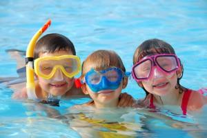 having fun in a spring texas pool