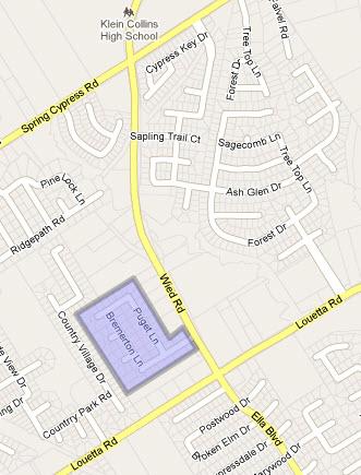 Bainbridge Estates Map Spring Texas
