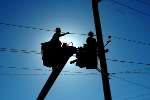 Linemen at work in Spring Texas