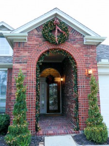 Christmas decorations increase curb appeal