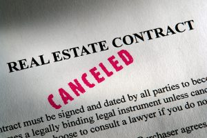 Cancelling your real estate contract