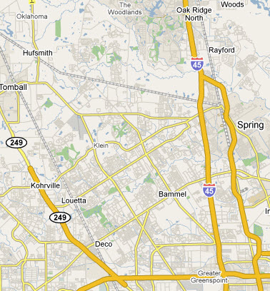spring-texas-area-map
