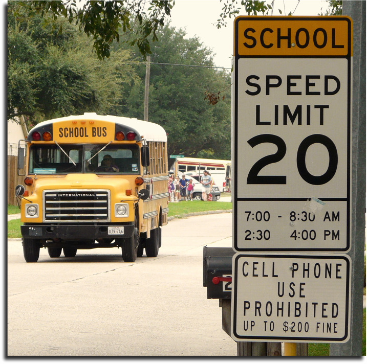 cell phone use prohibited in school zones