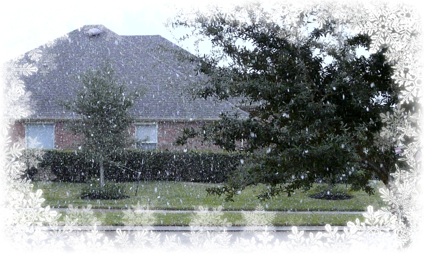 December 4th snowfall in spring texas