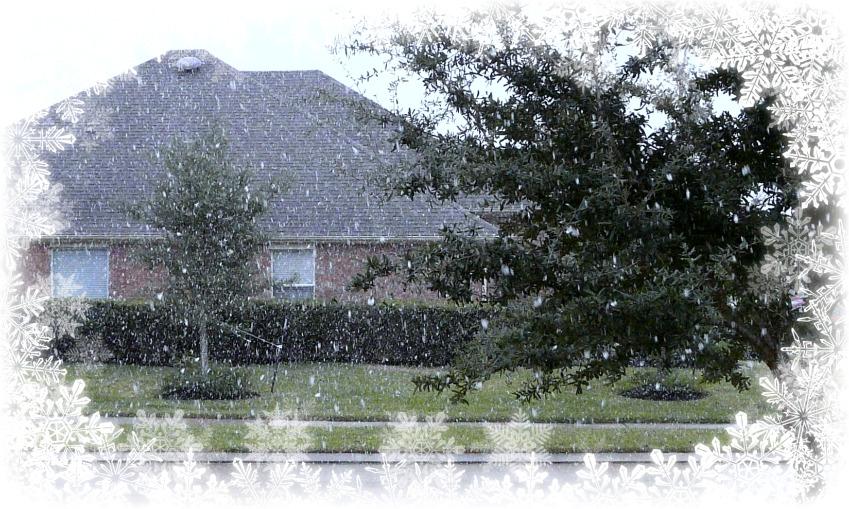 December 4th snowfall in spring texas