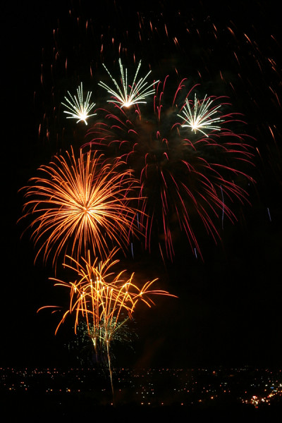 Fireworks in Spring Texas
