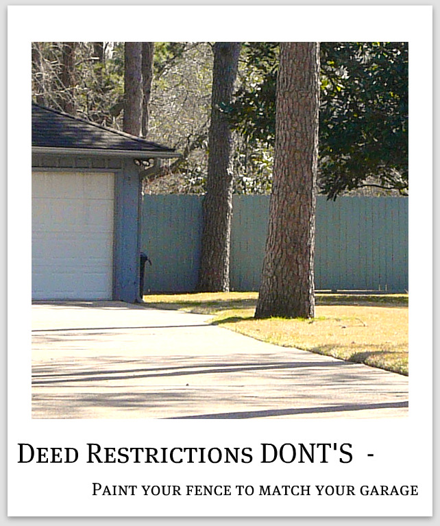 Spring Texas subdivisions deed restrictions