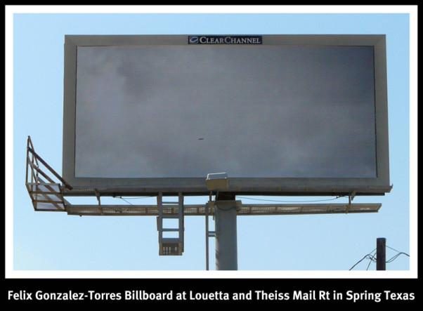 Billboard Spring Texas Felix Gonzalez-Torres