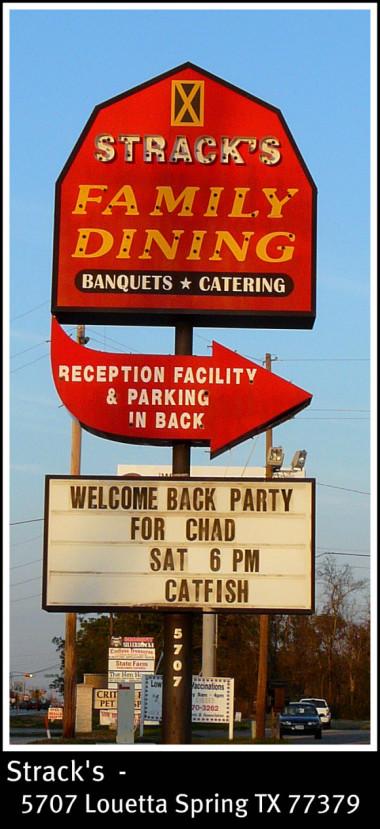 Stracks restaurant 5707 Louetta Spring TX