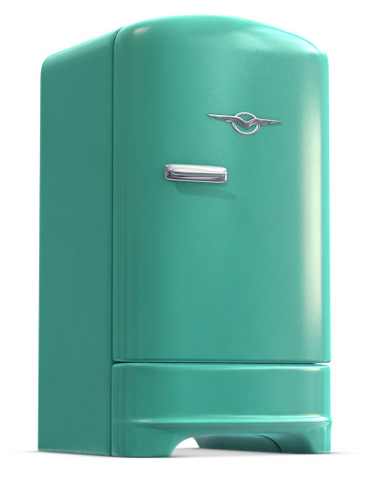 lime green refrigerator