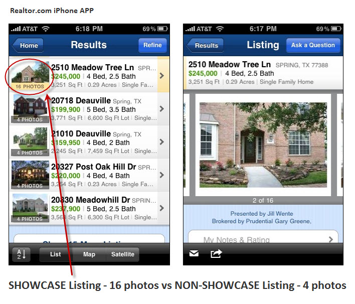 Realtor.com IPhone APP And Your Spring Texas Home's Listing