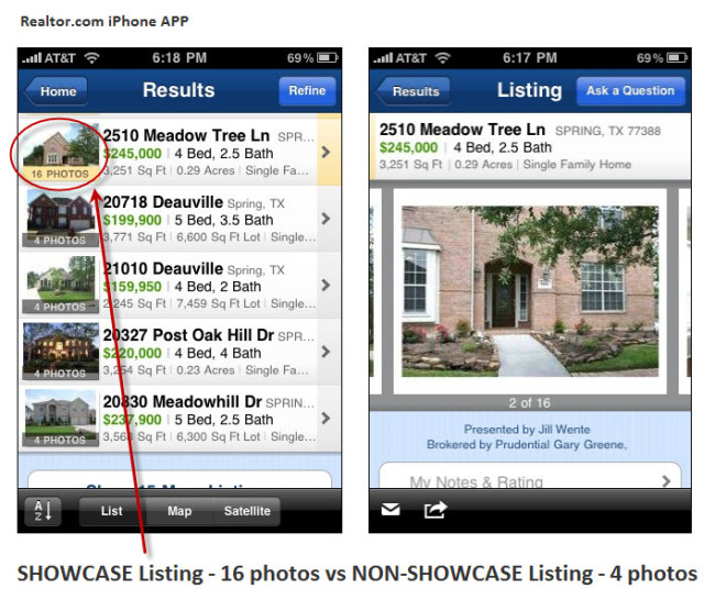 Realtor.com iPhone APP Spring Texas Real Estate
