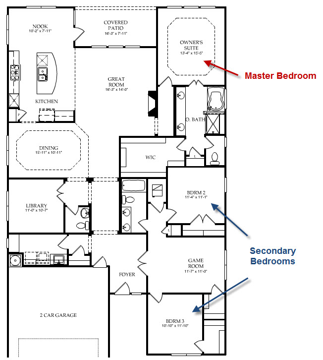 What is a split floor plan spring texas real estate for Split master bedroom floor plans