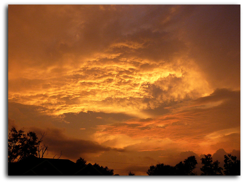Spring Texas sunset on sept 12 2010