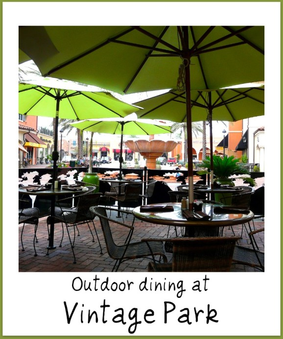 outdoor dining Vintage park