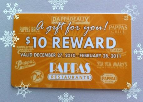 Pappas reward card