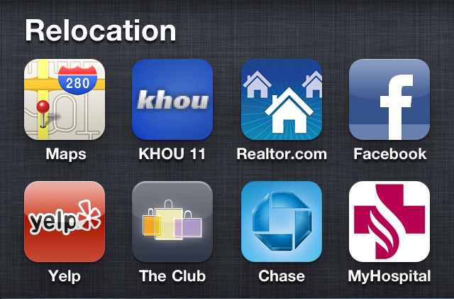 Relocating to Spring Texas - iPhone APPs