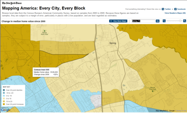 2010 Census Data Spring Texas