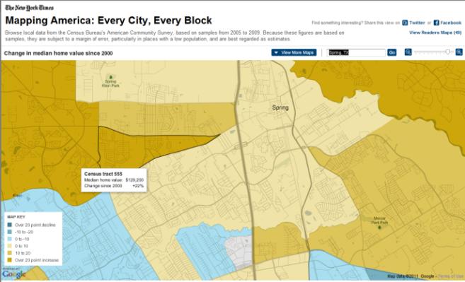 2010 Census Data Spring Texas