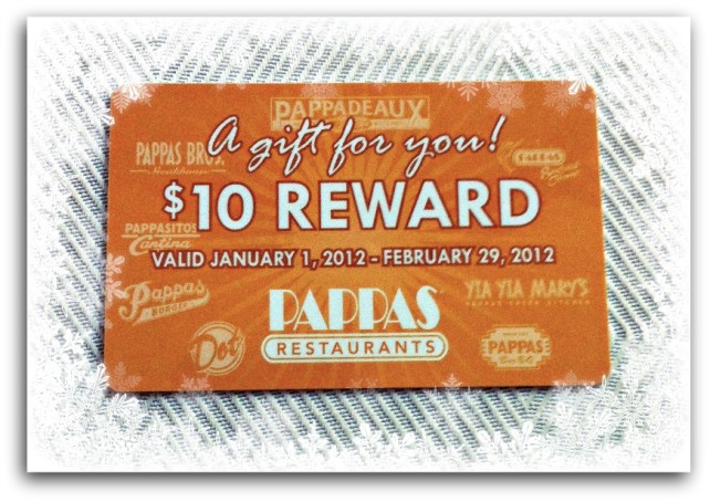 Pappas reward card