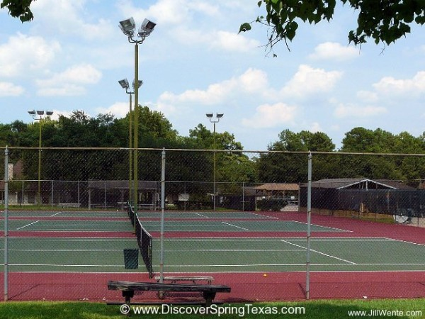 Spring Creek Forest tennis courts