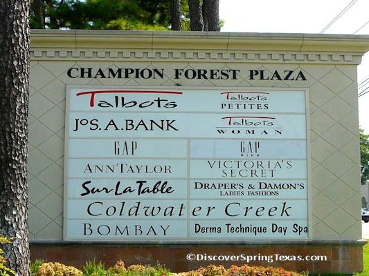 Champion Forest retail shopping