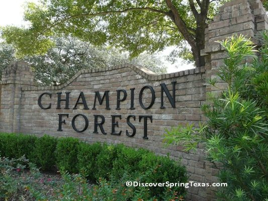 Champion Forest Spring TX