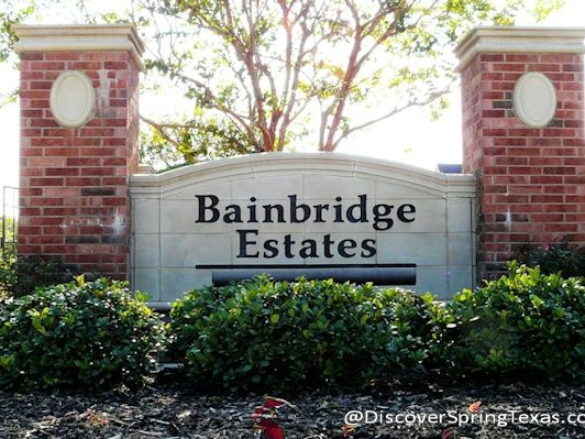 Bainbridge Estates Spring Texas