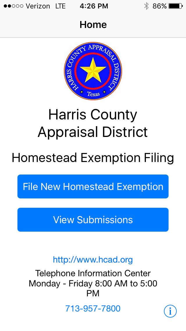 Easily file your homestead exemption with the hcad app for Does homesteading still exist