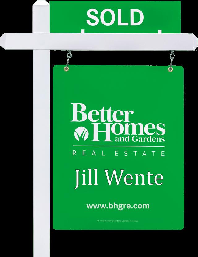 bhgre real estate sold sign spring tx jill wente