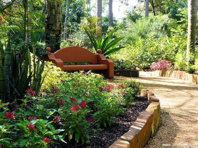 Exceptional Southwestern Bench At Mercer Gardens