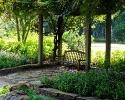 Mercer Botanic Gardens bench