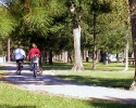 Biking in Meyer Park